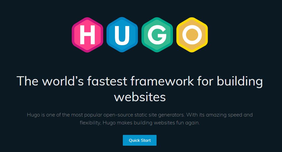 Img of Hugo website